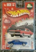 New Hot Wheels Holiday Rods '67 Camaro Blue 1/4 Lw Real Riders Limited Edition