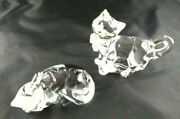 Lenox Crystal Cat Figurines Made In Germany B1