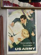 Vintage Military Sign Double Sided Metal 37andrdquo X 25andrdquo - 10601