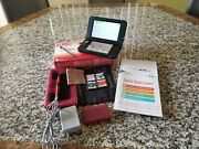 Nintendo 3ds Xl Redandblack Handheld System With Games + Charger + Stylus + Case