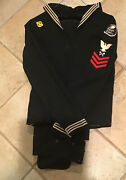 Ww Ii Navy Enlisted Jumper And Pants.. Carpenter First Class Petty Officer