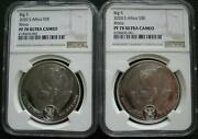 South Africa R5 2020 Silver Proof 1oz Two Coins Set African Big5 Rhino Ngc Pf70