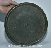 10.4 Rare Antique Chinese Bronze Ware Dynasty Palace 1 Hole Bronze Mirror S01