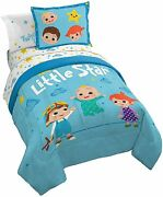 Jay Franco Cocomelon Little Star 5 Piece Twin Size Bed Set - Includes Comforter