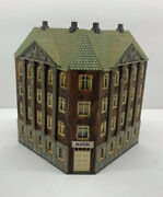 Ho Train Model Of Corner Bank House Building Store Ready For Layout