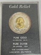 1976 Paul Revere Limited Edition Letcher Mint Pure Silver And Gold Bullion - Rare
