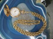 Wright, Kay And Co Vintage Ladies Gold Filled Pocket Watch And Fob