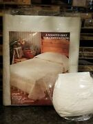 Tobin Candlewick Stamped Quilt Heirloom Bedspread Fabric King 108x110 + Thread
