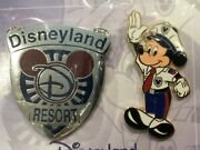 Dlr Cast Excl. Security Badge And Officer Mickey -2- Pin Set Le3000newsealed
