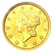 1853 Liberty Gold Dollar G1 - Certified Ngc Au58 - Rare Early Coin