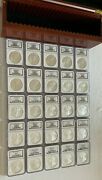 1986 Thru 2010 Silver Eagle Ngc Ms69 - 25 Coins With Beautiful Rosewood Box