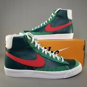 Nike Blazer Mid 77 Vintage Christmas Sweater Shoes Mens Size 8 Green Dc1619-300