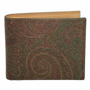 Brand New Etro Mens Paysrey Pvc Coating Leather Bifold Wallet 0f557