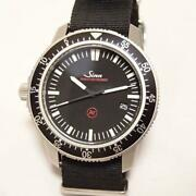 Sinn 703.ezm3.f Automatic Date Menand039s Watch Ss Black 41mm With Box And Case Auth