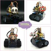 Diy Mini Tank Robot Car Kit V2.0 Stem 15projects Ios Android Control For Arduino