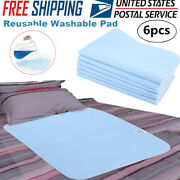 6x Reusable Adult Bed Pads Underpad 45x60cm Hospital Grade Incontinence Washable