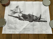 No. 92 Signed Squadron Spitfires Drawing By Alec Kinane For The Spitfire Society