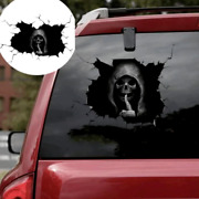 3d Stickers Car Stickers Skull With Broken Glass Decal Vinyl Window Truck Funny