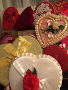 21 Vintage Valentine Candy Heart Chocolate Box All Diff Sizes
