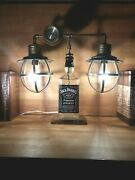 Jack Daniels Old No.7 Steampunk Lamp With Gage Light Bulbs Included