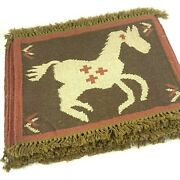 Ponderosa Horse Pony Placemats Set Of 6 Wool Blend Rustic Ranch Southwestern