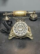 Old Antique Telephones Non Rotatory Dial Showpiece Table/desk Decor Gifts Item