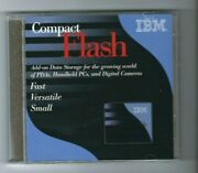 Ibm Compact Flash Card Adapter For Pcmcia Slots W/ 32mb Compactflash Card