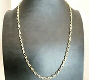 Vintage Necklace And03970 In Gold Solid 18k Chain Jersey Marinara Made In Italy