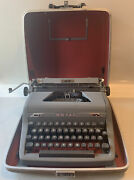 Vintage Gray 1952 Royal Quiet De Luxe Typewriter Portable Case Tested Works