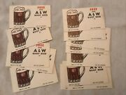 14 A And W Root Beer 1950andrsquos Free Drink Coupons