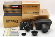 [unused] Nikon S3 Limited Edition Black Nikkor-s 50mm F/1.4 Free Shipping 840