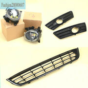 Fog Lights/front Bumper Lower Grill/foglight Lamp Cover Grilles For Vw Cc 09-12