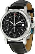 Menand039s Watch Self-winding Star Chronograph Gmt Automatic Ss Unused