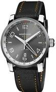 Gmt Watch Menand039s Self-winding Automatic Gray Black Ss Unused