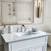 61 Stone Vanity Top With Double Rectangle Undermount Ceramic Sink For Bathroom