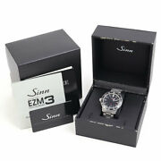 Sinn 603 Ezm3 Automatic Menand039s Ss Breath Military Watch Black Dial 41 Mm Boxed
