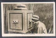 Magnetic Aurascope / Peepshow / Stereoscope / Optical Toy Real Photo Postcard