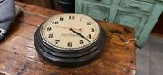 Vintage Hammond Postal Telegraph Synchronous Electric Time Wall Clock Working