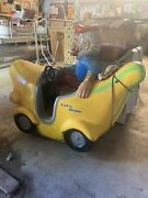Vtg Kiddie Coin Operated Ride On Banana Boat Monkey Amusement Ride Rare Read