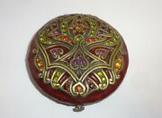Lovely Art Nouveau Style Jay Strongwater Jeweled Compact Purse Mirror