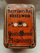 Old Westinghouse Mazda Lamps Bulb Tin Kit Keep This Kit Filled With Mazda Lamps