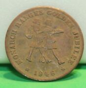 1946 Monarch Ranches Golden Jubilee Malleable Iron Ranch Oven Token Medal