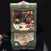 Vintage Enesco Small World Of Music The Grabber Lighted Motion Music Box W/box