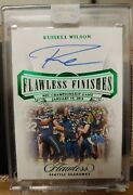 Russell Wilson Flawless Finishes Auto /2 Seahawks Football Qb Nfc