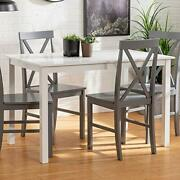 4 Person Modern Farmhouse Wood Small Dining Tabledining Room Kitchen Table Set