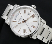 4810 Day Date Silver Dial Menand039s Watch Automatic Wristwatches Ss