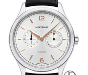 Heritage Chronometry Twin Counter Date Watch Menand039s Wristwatches Silver