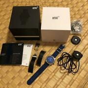 Smart Watch Summit 2 Black Leather Navy Nylon With Accessories Men's