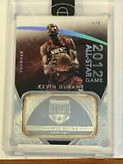 Kevin Durant 2014-15 Eminence 2012 All Star Game Silver Base 5/5 Ebay 1/1 Rare