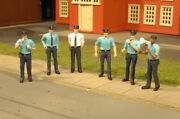 Bachmann 33154 O-scale Police Squad Plastic Figures 6 Cops Very Detailed